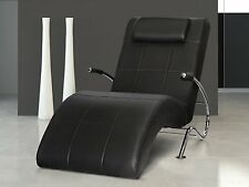 Vicco Enjoy Relaxliege Relaxsessel Fernsehsessel Layback PU Leder schwarz