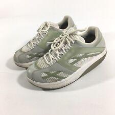 MBT SPORT Women's US 9 M White Silver Green Toning Rocker Walking Shoes Sneakers