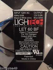 1PC Electronic Transformer Lightech LET-60 BF  110V>12V 60W FOR 12V LET60BF NEW