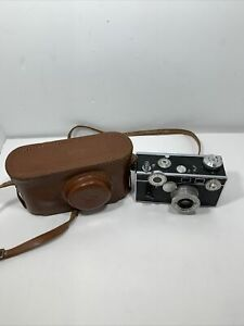 Argus C3 Brick 35mm Rangefinder Camera w/ 50mm F3.5 Cintar Lens & Leather Case