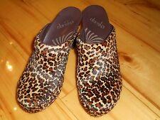 DANSKO Women's Rae Leopard Pony Hair High Heel Clogs Shoes sz 38/7.5