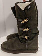 EMU Australia Hip Hi Sheep Wool Triple Toggle Boots Leather Womens Sz 8