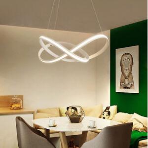 Nordic LED Pendant Light Suspension Luminaire Curved Chandelier Creative Lamp
