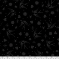 Free Spirit Tula Pink Linework Collection FAIRY FLAKES - INK Cotton Fabric
