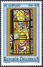 Austria 1995 Saint GEBHARD/VESCOVO/VETRO COLORATO/arte/Chiesa/PEOPLE 1v (n41999)