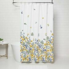 THRESHOLD Shower Curtain Gold Medal Floral Multi color 72 x 72 New