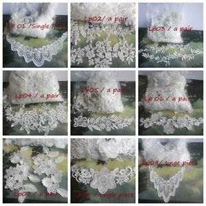 Flower Patch Lace Collar Embroidery Applique Lace Trimming Motif Sewing Supplies