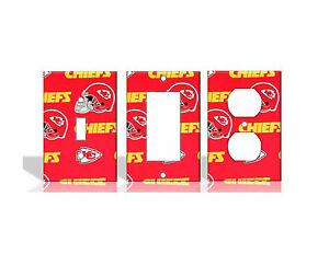 Kansas City Chiefs #2 Red Light Switch Covers Football NFL Home Decor Outlet