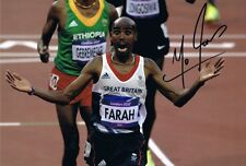 Signed Mo Farah London 2012 Olympics Autograph Photo Athletics