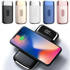 8000mAh Power Bank Qi Wireless Fast Charging USB Portable Battery Charger US