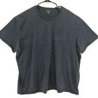 Polo Ralph Lauren Blue Gray Tee T Shirt Mens 4XB Short Sleeve Pocket Maroon PONY
