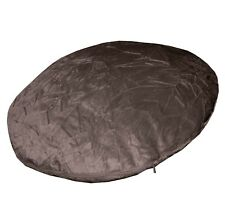 mn123n Brown Shimmer Crushed Velvet Style Round Shape Cushion Cover Custom Size
