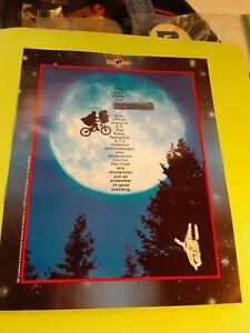 vintage 80's ET Fan Club print  8x10 (free ship $20 min)