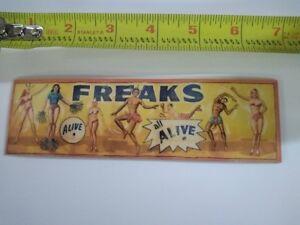 Vintage Looking Circus Freakshow banner sideshow art  ** Refrigerator Magnet **