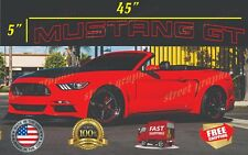 """Mustang GT Outline Front Windshield Banner Decal  Ford Mustang 5"""" x 45"""""""