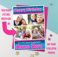 ADD YOUR OWN PHOTOS - Personalised Birthday Card  ANY NAME - AGE - RELATION (1)