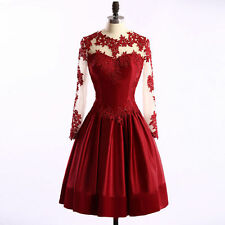 Short Homecoming Dress Prom Party Cocktail Formal Applique Evening Gowns Custom