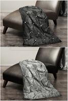 Luxury Throw Over Bedspread Diamante Crushed Velvet New Sofa Velvet Bed Throw