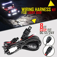 8ft LED HID Spot Work Driving Light Wiring Harness Kit 12V 40A Switch Relay Fuse