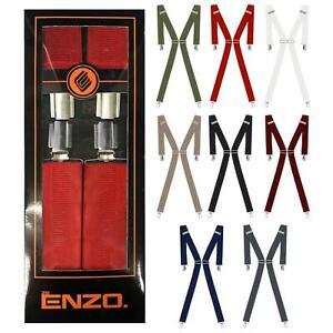 Mens Elsaticated Braces 35mm High Quality Heavy Duty Adjustable Suspenders