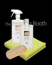 Autoglym Leather Care Balm & Leather Cleaner 500ml w/ Microfibre & Leather Brush