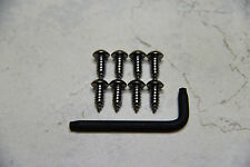 Anti-Theft *BLACK* Security Screws for CHRYSLER 300 FRONT & REAR License Plate