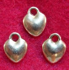 200Pcs. WHOLESALE Tibetan Silver Small HEART Charms Earring Drops Findings Q1164