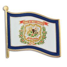 NEW Classy WEST VIRGINIA WV Flag  Lapel Pin 1 inch wide! martinsburg clarksburg