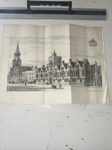 1888 Building News Architecture Antique Brasenose College Oxford