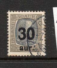 Iceland (4353) 1921 King Christian  1X  30a on 50a Grey used Sg144
