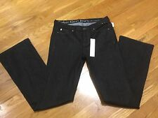 Nwt Women Calvin Klein Ultimate Bootcut Black Wash Denim Jeans Sz 8 x 35