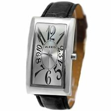 Genuine Leather Band Rectangle Polished Watches
