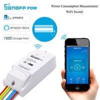 SonOff Pow Wireless WiFi Switch ON/Off 16A Power Consumption alexa nest google