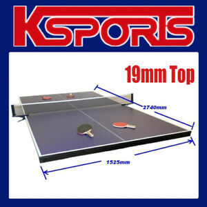 TABLE TENNIS PING PONG TABLE 19MM TOP - FULL SIZE - PLACED ON POOL TABLE