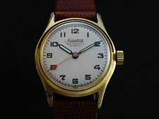 Vintage Swiss Mechanical MINERVA Gold Plated Watch Medium 50's