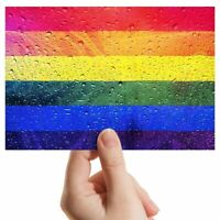 """Photograph 6x4"""" - Water Droplet Gay Pride Flag Art 15x10cm #14527"""