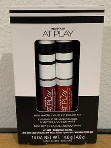 """Mary Kay LIMITED EDITION At Play """"Mini Matte Liquid Lip Color Kit"""" - FREE S/H"""