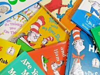 Dr. Seuss Lot of 10 Hardcover Beginner Books Mixed Set HC One Fish Two Fish