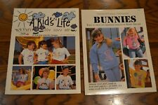 Vintage Iron-On Transfer Books T-Shirt Patterns Bunny Kids Lot of 2