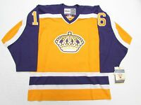 MARCEL DIONNE LOS ANGELES KINGS GOLD VINTAGE CCM HOCKEY JERSEY SIZE XL