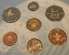 Coin Hunt UK 1991 BUNC 7 COIN COLLECTION