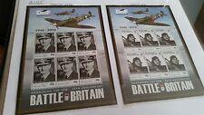 British INDIAN OCEAN TERRITORY 2010 SG 431-436 70TH Anniv della battaglia di Brit Gomma integra, non linguellato