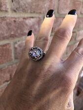4.41 carat Pink Moissanite ring size 6