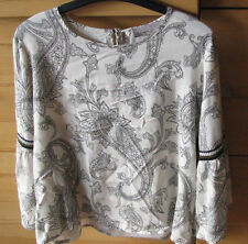 Bluse Shirt Oberteil Vero Moda Gr. M Paisley Muster