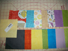 """Sweet Tweets Charms--15 x 3 sets=45-5"""" X 5"""" Cotton Squares  Brights and Birds  Z"""