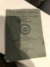 Vintage 1904 U.S. Postal Service Domestic And Foreign Mail Matter Booklet