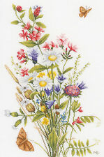 Cross Stitch Kit ~ Lanarte / Marjolein Bastin Field Flowers #PN-0155693