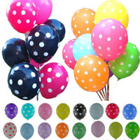 10/20/50/100 Pcs Wedding Birthday Party Decoration Latex Polka Dot Balloons  12""