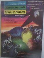 Fantasy & Science Fiction Magazine - November 1955- Theodore Sturgeon