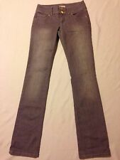 CAbi straight leg low rise grey jeans women's size 2 (waist 30, inseam 33)